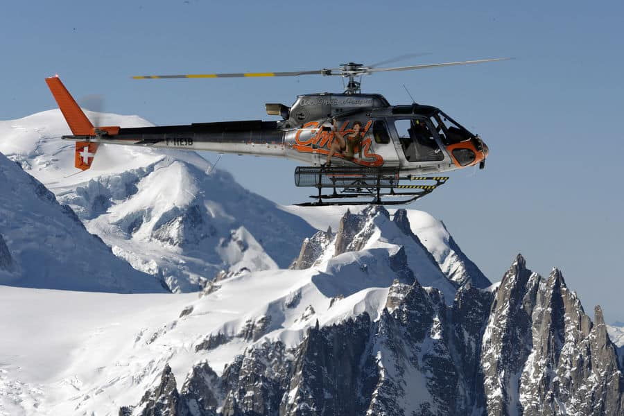 Helicopter flight at Chamonix with TopOfEuropeOrganisation