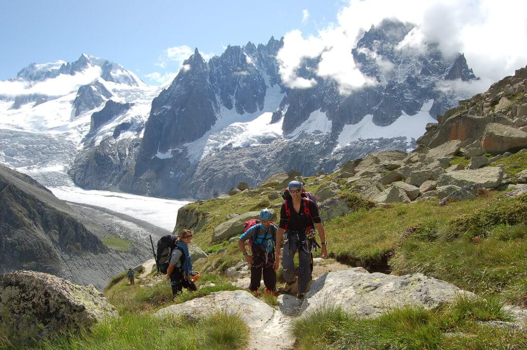 Trekking at chamonix with TopOfEuropeOrganisation